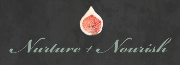 Nurture+Nourish logo chalkboard